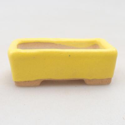 Mini Bonsai Schüssel 4,5 x 2,5 x 1,5 cm, gelbe Farbe - 1