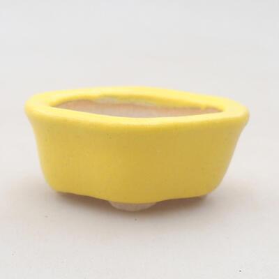 Mini Bonsai Schüssel 4 x 3,5 x 2,5 cm, Farbe gelb - 1