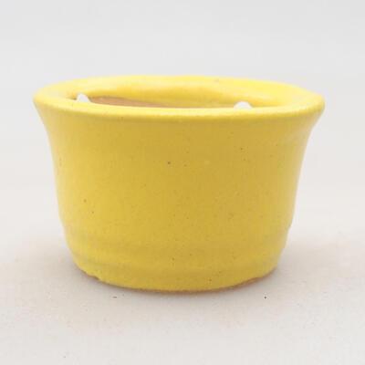 Mini Bonsai Schüssel 3 x 3 x 2 cm, Farbe gelb - 1