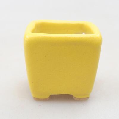 Mini Bonsai Schüssel 3 x 3 x 3 cm, Farbe gelb - 1
