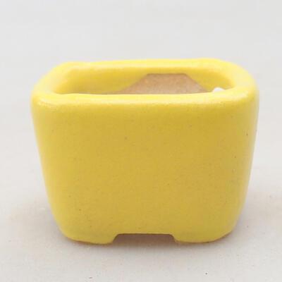 Mini Bonsai Schüssel 3,5 x 3,5 x 2,5 cm, gelbe Farbe - 1