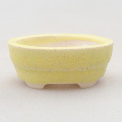 Mini Bonsai Schüssel 4 x 2,5 x 1,5 cm, Farbe gelb - 1