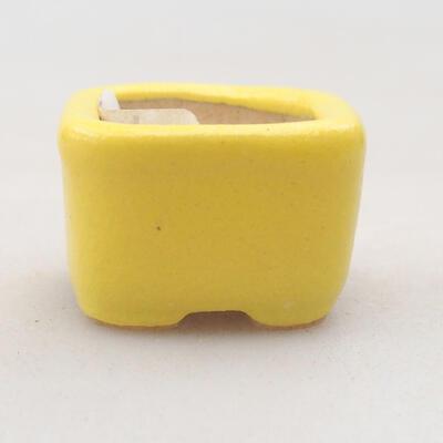 Mini Bonsai Schüssel 2 x 2 x 1,5 cm, Farbe gelb - 1