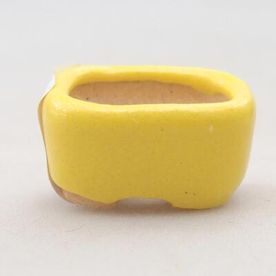 Mini Bonsai Schüssel 2,5 x 2 x 1,5 cm, Farbe gelb - 1