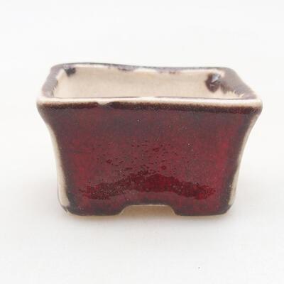 Mini Bonsai Schüssel 4 x 3 x 2,5 cm, Farbe rot - 1