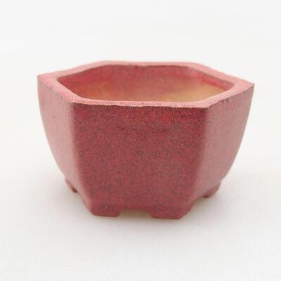Mini Bonsai Schüssel 4 x 3,5 x 2 cm, Farbe rot - 1