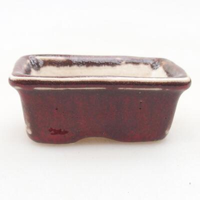 Mini Bonsai Schüssel 6 x 3,5 x 2,5 cm, Farbe rot - 1