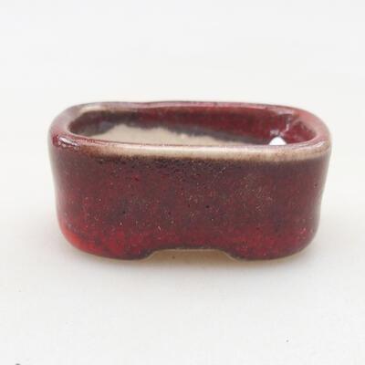 Mini Bonsai Schüssel 4 x 3 x 1,5 cm, Farbe rot - 1