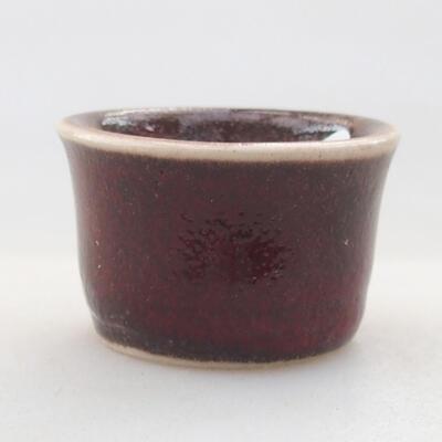 Mini Bonsai Schüssel 3 x 3 x 2 cm, Farbe rot - 1