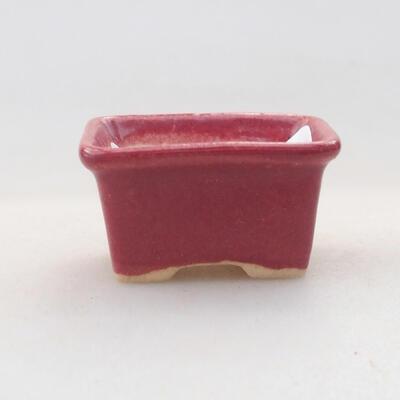 Mini Bonsai Schüssel 3 x 2,5 x 2 cm, Farbe rot - 1