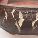 Keramik Bonsai Schüssel 15 x 15 x 6 cm, Farbe rissig - 1/4