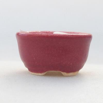 Mini Bonsai Schüssel 3 x 2,5 x 1,5 cm, Farbe rot - 1