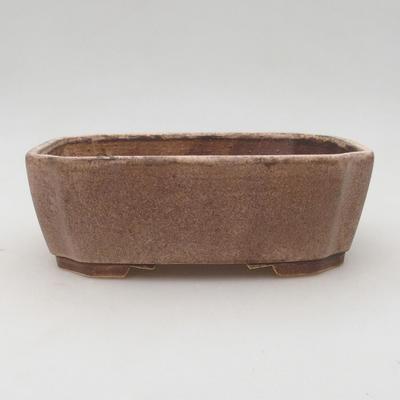 Keramische Bonsai-Schale 17 x 14,5 x 6 cm, beige Farbe - 1