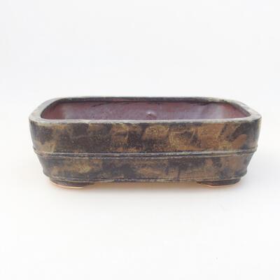 Keramische Bonsai-Schale 23,5 x 18 x 7 cm, Farbe braungrau - 1
