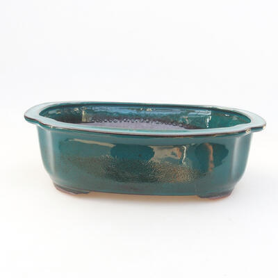 Keramische Bonsai-Schale 23 x 20 x 7 cm, Farbe grün - 1