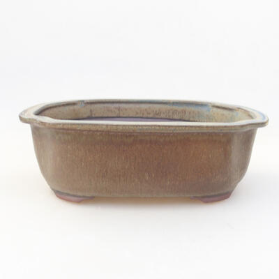 Keramische Bonsai-Schale 20,5 x 16,5 x 7 cm, graue Farbe - 1