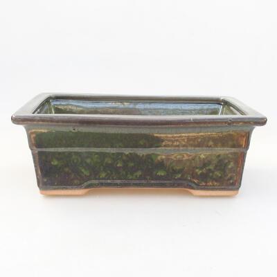 Keramische Bonsai-Schale 20,5 x 15 x 7 cm, Farbe grün - 1