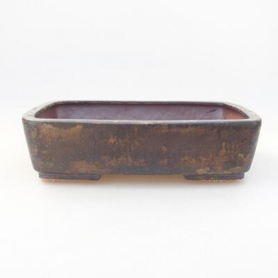Keramik Bonsai Schüssel 25 x 20 x 6 cm, Farbe braun - 1