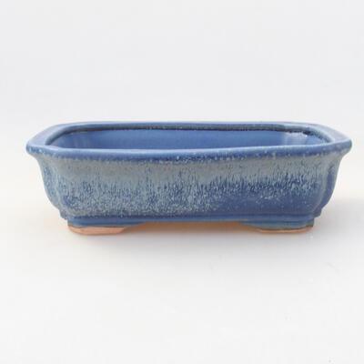 Keramische Bonsai-Schale 17 x 13,5 x 4,5 cm, Farbe blau - 1