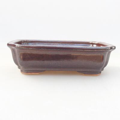 Keramische Bonsai-Schale 17 x 13 x 7 cm, Farbe braun - 1