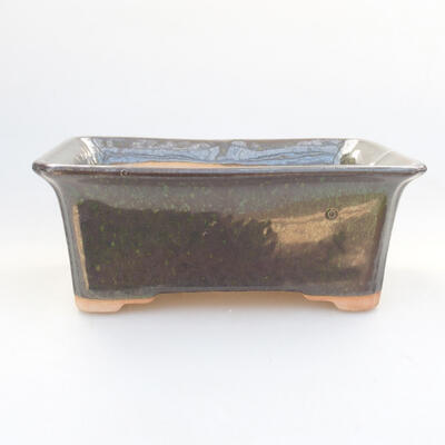 Keramische Bonsai-Schale 17,5 x 14 x 6,5 cm, Farbe grün - 1