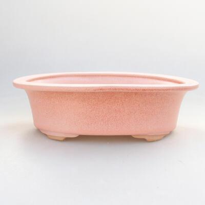 Keramik Bonsai Schüssel 22 x 17 x 6 cm, Farbe rosa - 1