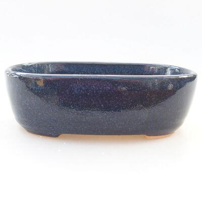 Keramische Bonsai-Schale 12,5 x 9 x 3,5 cm, Farbe blau - 1