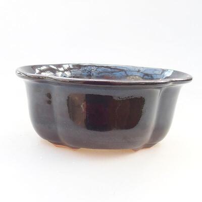 Keramische Bonsai-Schale 13 x 11 x 5,5 cm, schwarze Farbe - 1