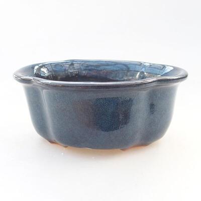 Keramische Bonsai-Schale 13 x 11 x 5,5 cm, Farbe blau - 1