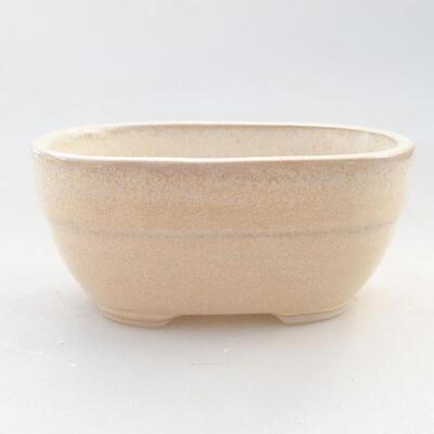 Keramische Bonsai-Schale 11,5 x 8 x 5 cm, beige Farbe - 1