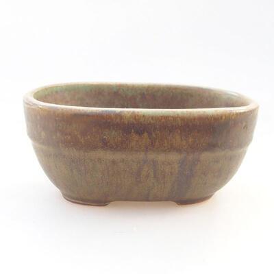 Keramische Bonsai-Schale 11,5 x 8 x 5 cm, Farbe grün - 1