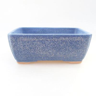 Keramische Bonsai-Schale 14,5 x 11 x 5 cm, Farbe blau - 1