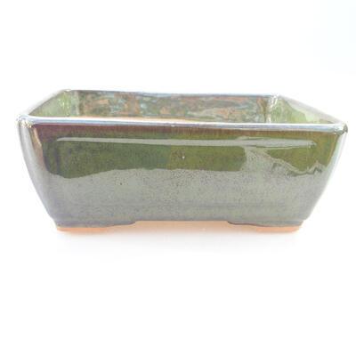 Keramische Bonsai-Schale 15,5 x 12,5 x 6 cm, Farbe grün - 1
