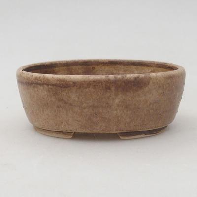 Keramische Bonsai-Schale 9,5 x 8,5 x 3,5 cm, beige Farbe - 1