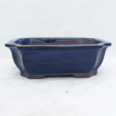 Bonsaischale 31 x 24 x 10 cm, Farbe blau - 1