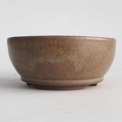 Keramische Bonsai-Schale 10 x 10 x 4,5 cm, Farbe braun - 1