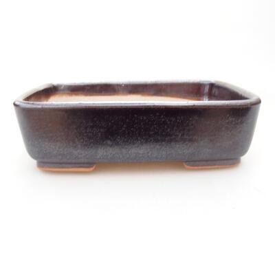 Keramische Bonsai-Schale 15 x 10,5 x 5 cm, braune Farbe - 1