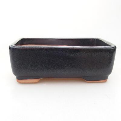 Keramische Bonsai-Schale 15 x 10,5 x 5 cm, graue Farbe - 1