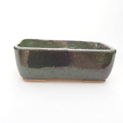 Keramische Bonsai-Schale 15 x 10,5 x 5 cm, Farbe grün - 1
