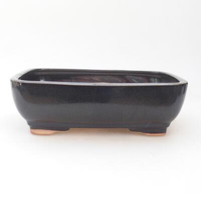 Keramische Bonsai-Schale 22 x 17 x 7 cm, graue Farbe - 1