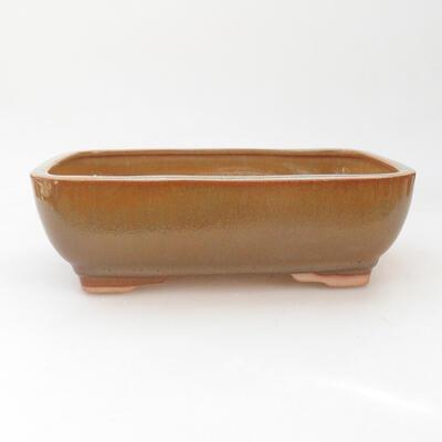 Keramische Bonsai-Schale 22 x 17 x 7 cm, Farbe braun - 1