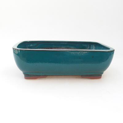 Keramische Bonsai-Schale 22 x 17 x 7 cm, Farbe grün - 1