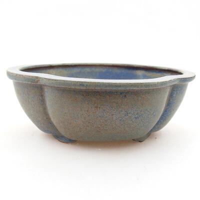 Keramische Bonsai-Schale 12 x 10 x 4,5 cm, Farbe blau - 1