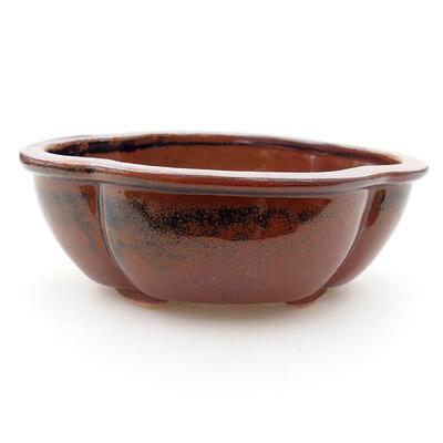 Keramische Bonsai-Schale 12 x 10 x 4,5 cm, Farbe braun - 1