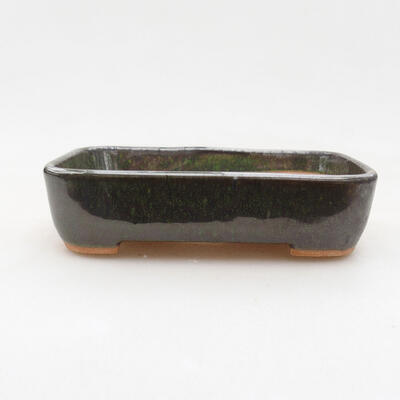 Keramische Bonsai-Schale 12 x 10 x 3,5 cm, Farbe grün - 1