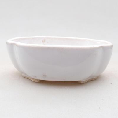 Keramische Bonsai-Schale 10 x 8,5 x 3 cm, weiße Farbe - 1