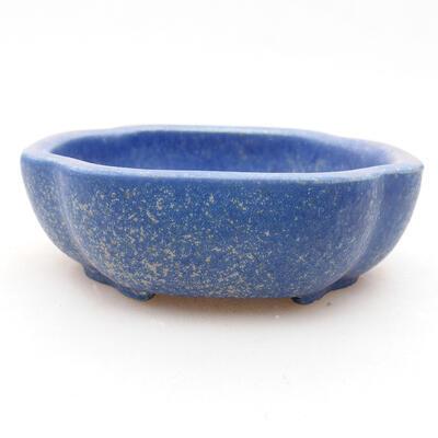 Keramische Bonsai-Schale 10 x 8,5 x 3 cm, Farbe blau - 1