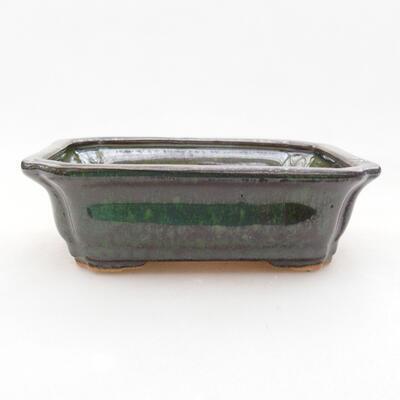 Keramische Bonsai-Schale 12,5 x 10 x 4 cm, Farbe grün - 1