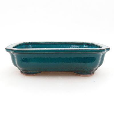Keramische Bonsai-Schale 13 x 10 x 3,5 cm, Farbe grün - 1