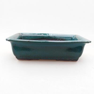 Keramische Bonsai-Schale 13,5 x 10 x 3,5 cm, Farbe grün - 1